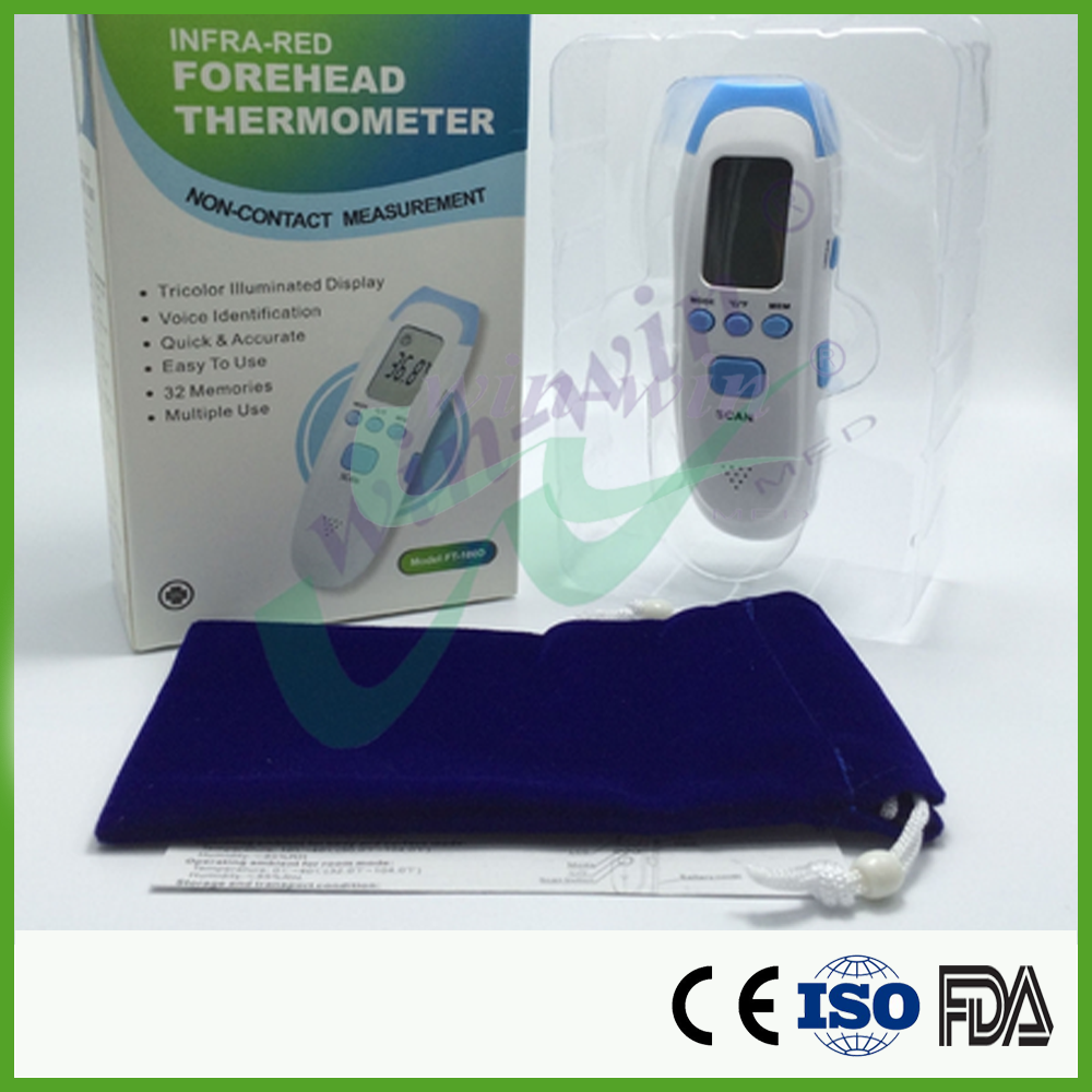safe non-contact instant read Infrared Multifunction Thermometer FT-100D