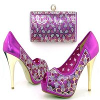 MTS43 shoe and bag set women for party Italian matching shoes and bags
