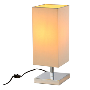 High quality decor iron base fabricate E27 chrome modern designer desk lamp bedside lamp table for hotel