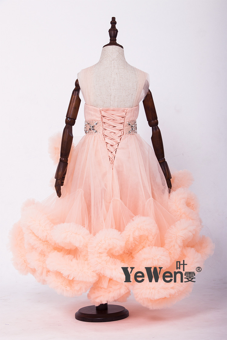Cloud little flower girls dresses for weddings Baby Party frocks sexy children images Dress kids prom dresses evening gowns 2016 16