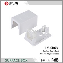 LY-SB63 1 Hole White Blank Surface Mount Box for Keystones
