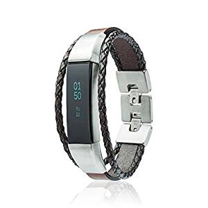 Fitbit Alta - Alta HR - Bands - Aurel - fitjewels Leather Replacement band, Available in Black, Brown, Gold, Silver and Grey