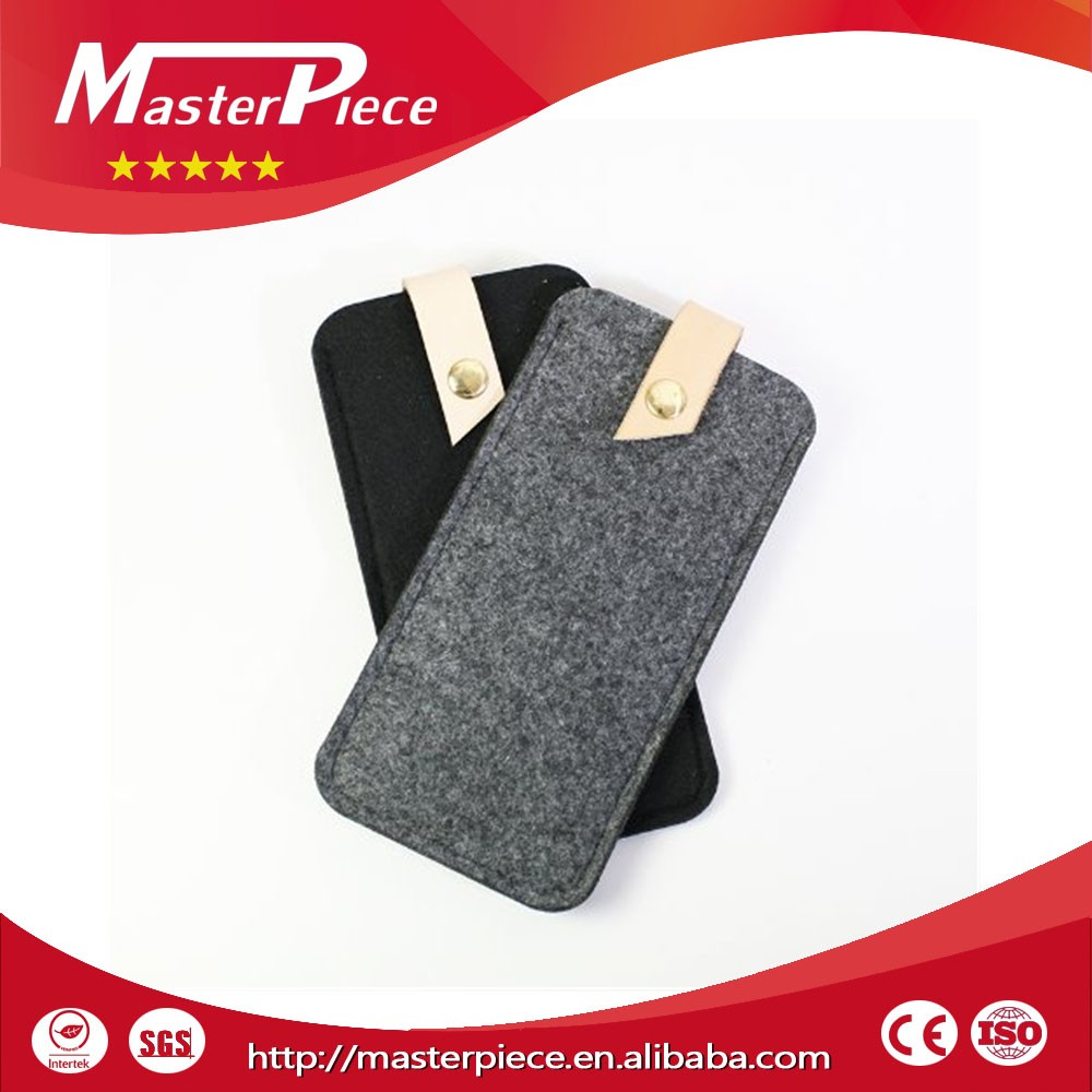 useful and cute cable headset connector wool felt mobile phone case