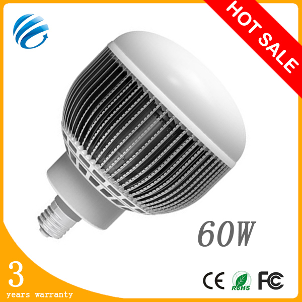 high power industrial led high bay light 60w e40 5500-6000lm 6500-7000k aluminum ip54 with 3 years warranty