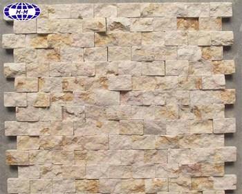 Natur Sandstein Mosaik Fliesen Für Bad Dekoration