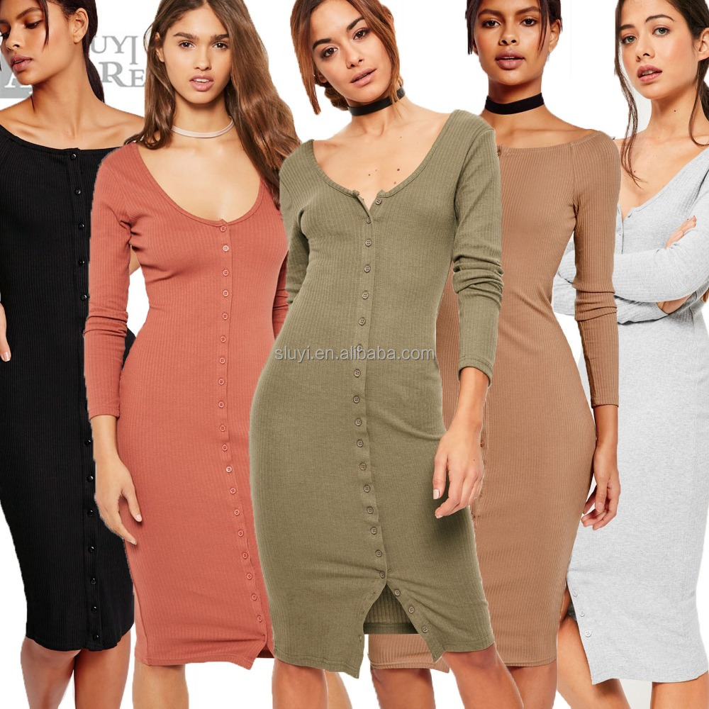 Clothes women winter dresses ladies fashion long sleeve sexy buttons bandage dress ropa mujer apparel woman wholesale clothing