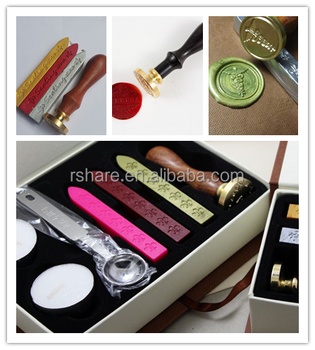exclusive wax sealing stamp kit with hard card board box for premium