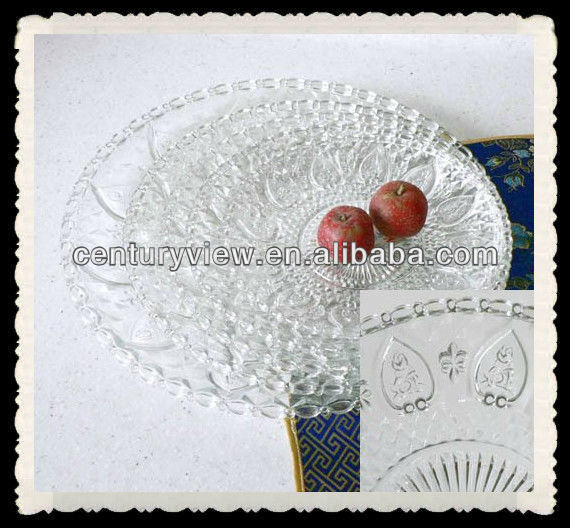 glass plates with new fiower design