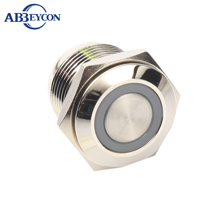 J311 16mm Short Length Ring Led Momentary Stainless Steel 316L Anti-vandal Sensitive Push Button Switch