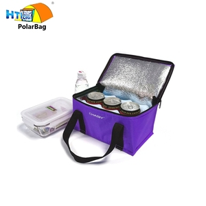 Wholesale Peva Liner Insulated Silver Cooler Bag With Drink Holder