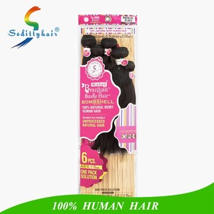 alibaba express one pack solution 100 natural remy human hair brazilian bundle hair drop shipping