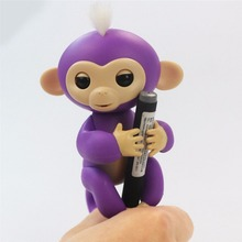 New Hot Fingerlings Interactive Baby Monkeys Smart 6 Colors Fingerslings Smart Induction Monkey Toys Best Party Gifts For Kids