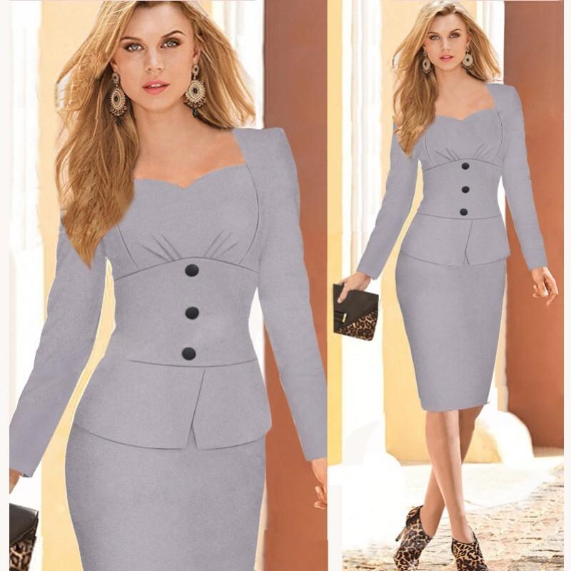 Faldas Elegantes De Oficina