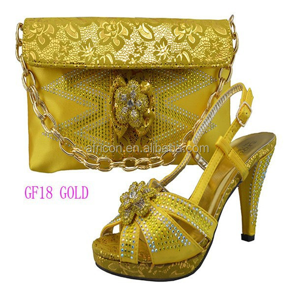 GF18 gold New arrival 2015 sexy African model style women elastic button high heel pump all match party shoes price off