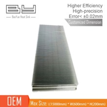 customized cooling fin aluminium skived Heat sink for Charging pile
