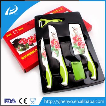 enviromental ceramic coating knife set with