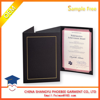 2017 new diploma holder a5 size leather paper graduation certificate