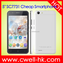 Kimfly M3 Dual SIM Card 5.0 Inch SC7731C Quad Core Cheap Price Android China Smartphone