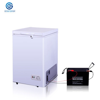 Low price 208L 12V 24V DC single door portable low power consumption solar power deep refrigerator