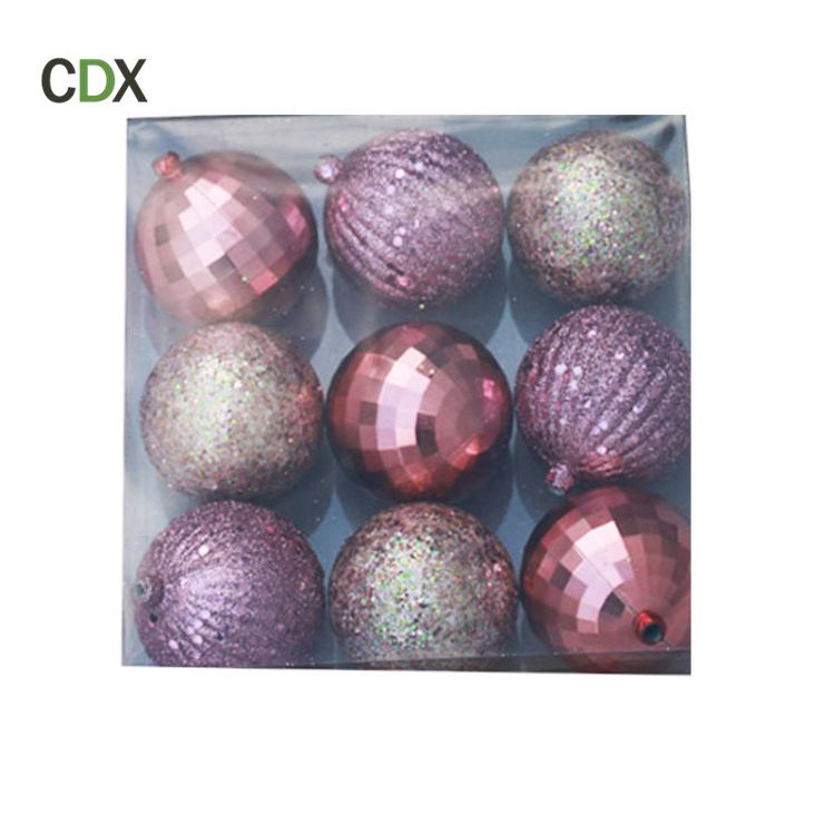 Customized Christmas Decoration 2017 Ball Ornaments Clear Plastic