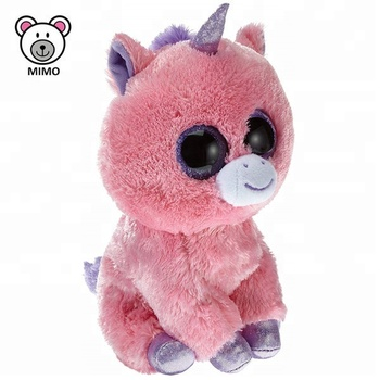 Wholesale Cheap Pink Horse Unicorn Plush Toy Fashion Amazon TY Big Eyes  Custom Cute Stuffed Animal b4f0f4dca59