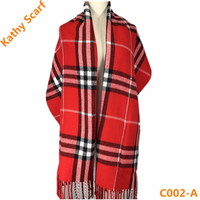 Fashion Beautiful Hot Sale Red and White Striped Scarf
