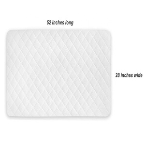 Hypoallergenic Waterproof Quilted Baby Crib Mattress Pad Protector