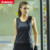 Personalized cheap u shaped black perspective durable yoga fitness vest
