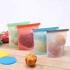 Reusable Silicone Food Storage Preservation Bags Container Versatile Cooking Bag for Freeze, Steam, Heat, Microwave