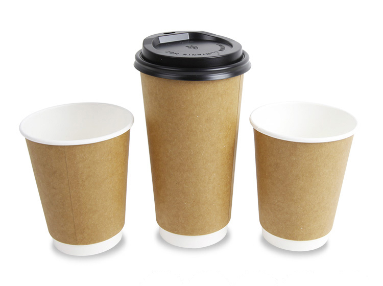 Disposable Export Paper Coffee Carton Cup With Handle Pla