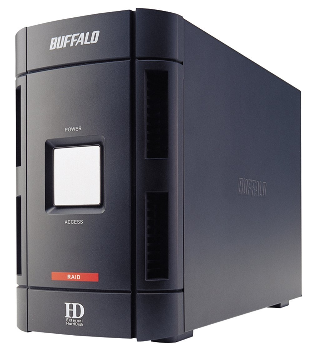 Buffalo DriveStation Duo 1.0 TB (2 x 500 GB) USB 2.0 & FireWire Combo External Hard Drive HD-W1.0IU2/R1