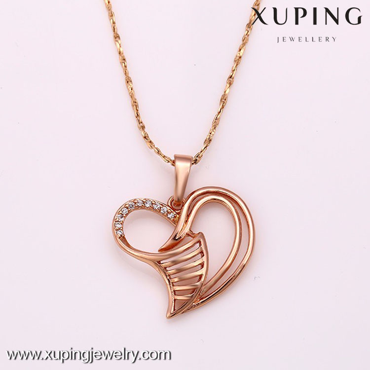 31694-Simple Fashion Jewelry Accessories Heart Shape Necklace Pendant For Women