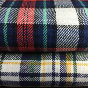 CVC cotton yarn dyed check shirt fabrics stock lots in keqiao warehouse