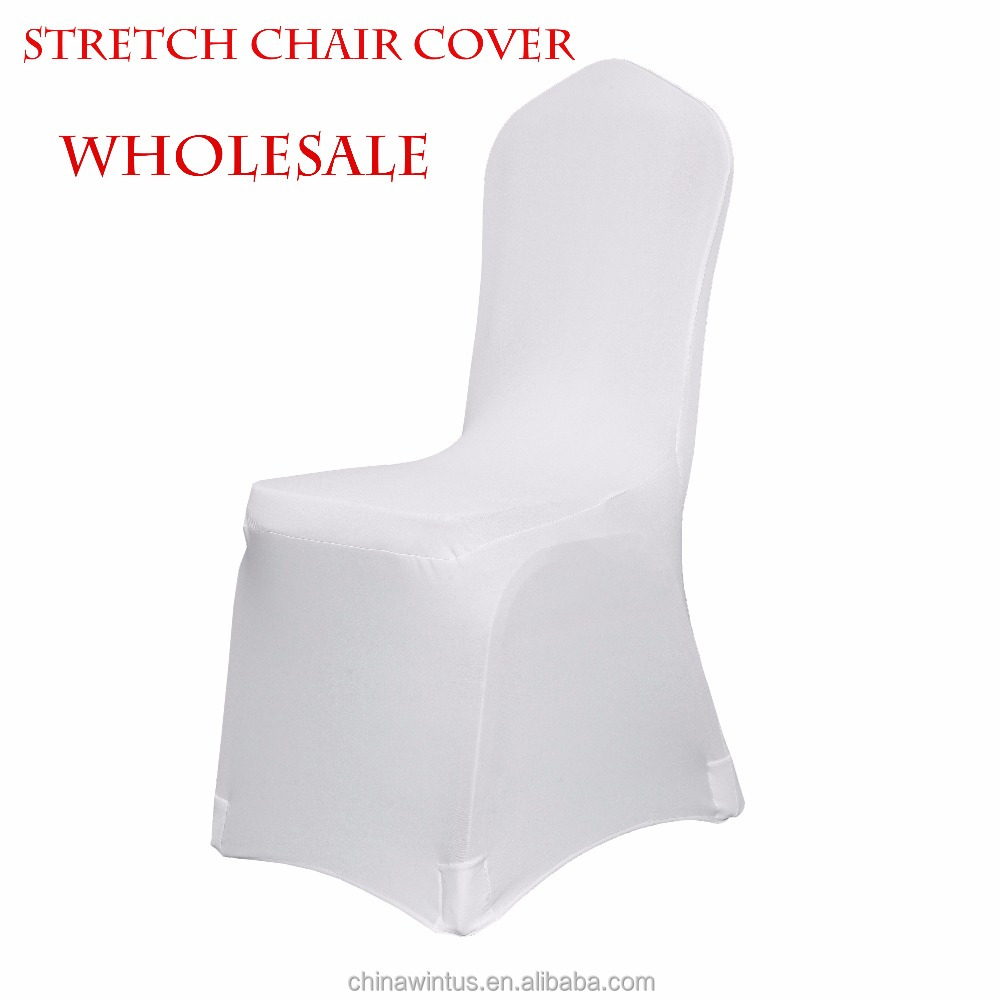 180gsm spandex chair covers in white/beige , wholesale banquet stretch chair covers, banquet/event chair covers