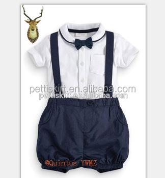 Top 100 Baby Boy Names Top Shirt Suspender Shorts Set Boutique Boy