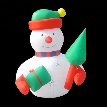 new design christmas decoration standing inflatable snowman model inflatable bumble snowman for sale