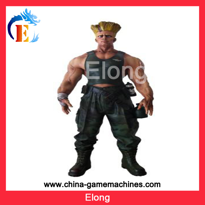 2015 Amusement Park equipment amusement park fiberglass character, Street fighter Guile