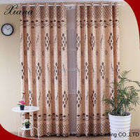 Egypt style fashion Flocked ready made curtains