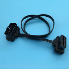 High Precision OBD2 Female To Male Flat OBD Cars Diagnostic Cable
