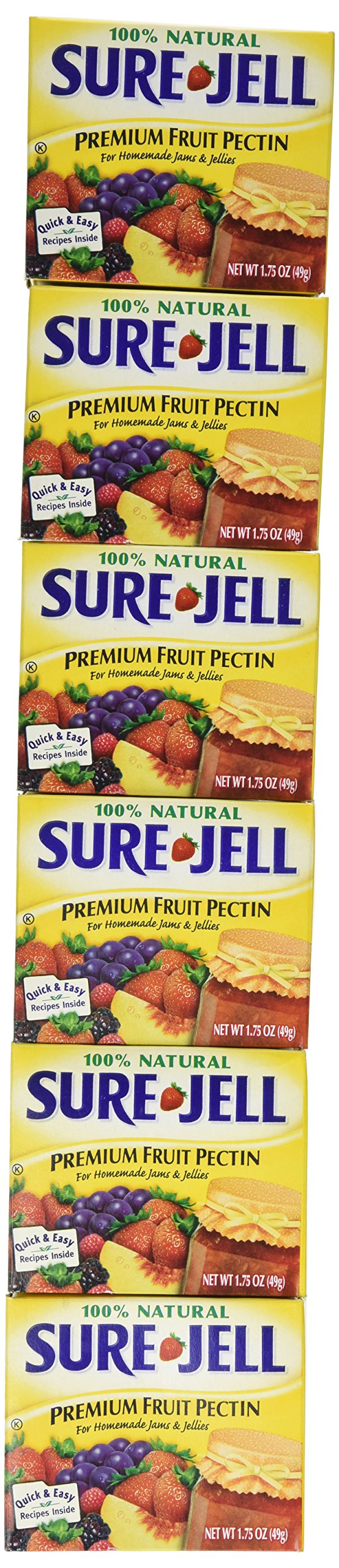Sure-jell Premium Fruit Pectin,for Homemade Jams and Jellies 100% Natural 1.75-ounce Boxes (Case of 24)