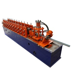 factory price c ceiling z roof panel metal shaped galvanized color light keel perlin steel roll forming machine