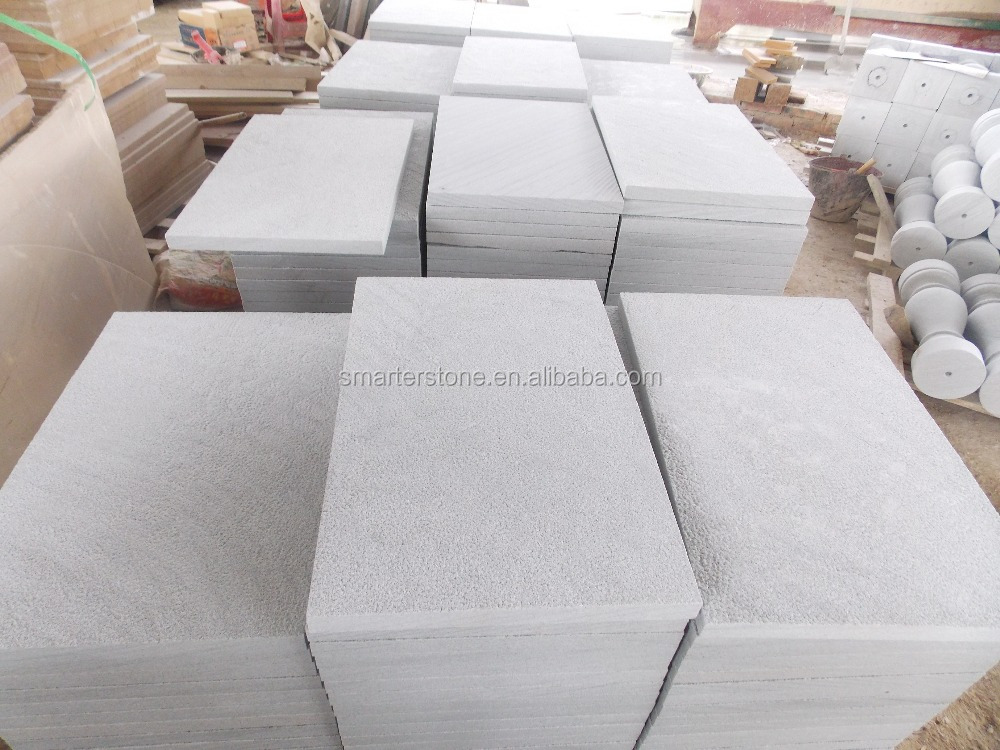 White Sandstone Tiles Light Grey Sandstone Slab For Sale