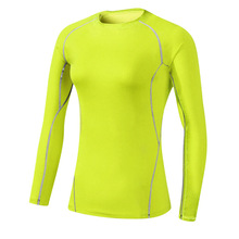 Fitness Women Running Sports Stretch Long Sleeve Quick Dry Tees