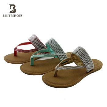 dda928a3383c84 New design china crystal stone style women sandals shoes lady sandal  slipper Cheap high quality cheap