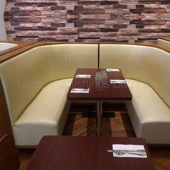 Sp Cs335 Modern Fast Food Leather L Shape Restaurant