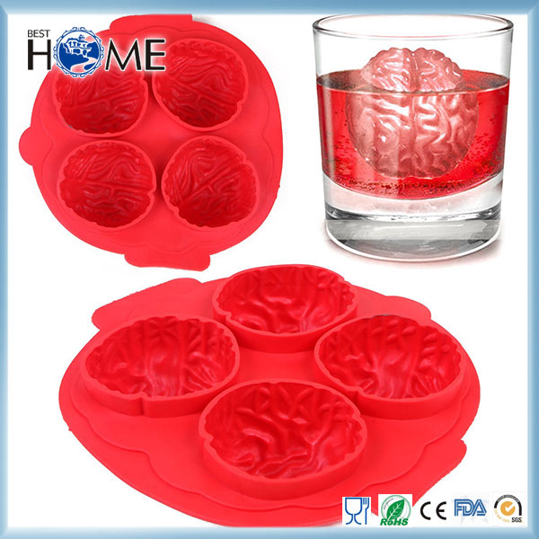 Brain Halloween Party Novelty Chocolate Silicone Jello Cup Boxes