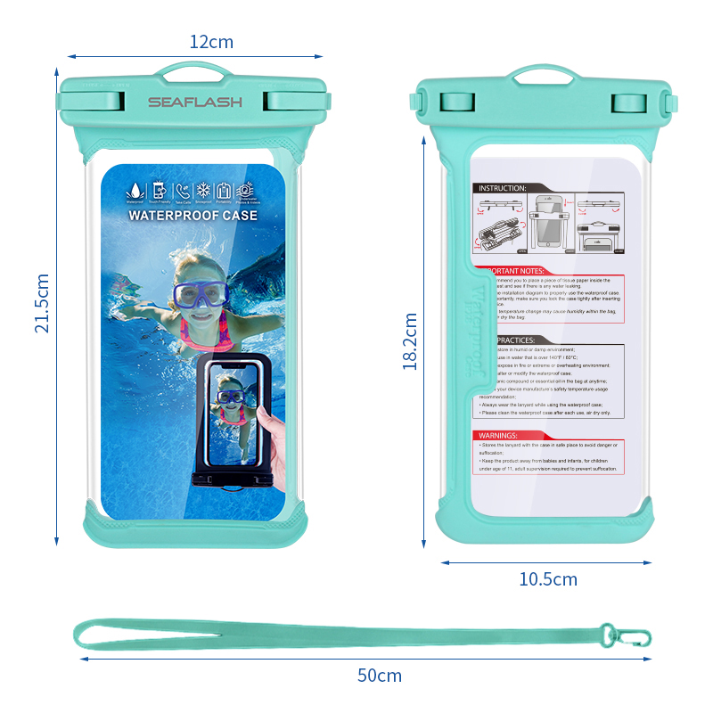 New Design  Mobile Phone Accessories Beach/swimming Pool IPX8 Waterproof Cell Phone Case