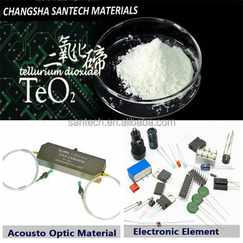 Teo2 Powder For Tellurite Glass Fiber Tellurium Dioxide
