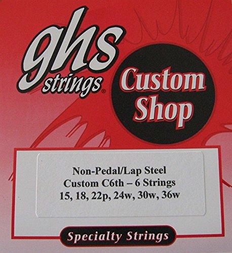 """Lap Steel Guitar Strings """"GHS Custom C6th- 6 """" Gauges 15 - 36W - 2 Sets"""
