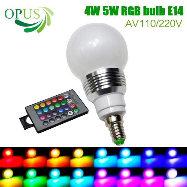 4w 5w rgb bulb e14 led dimmable lamp brand light for home party bar weeding decoration lighting. Black Bedroom Furniture Sets. Home Design Ideas